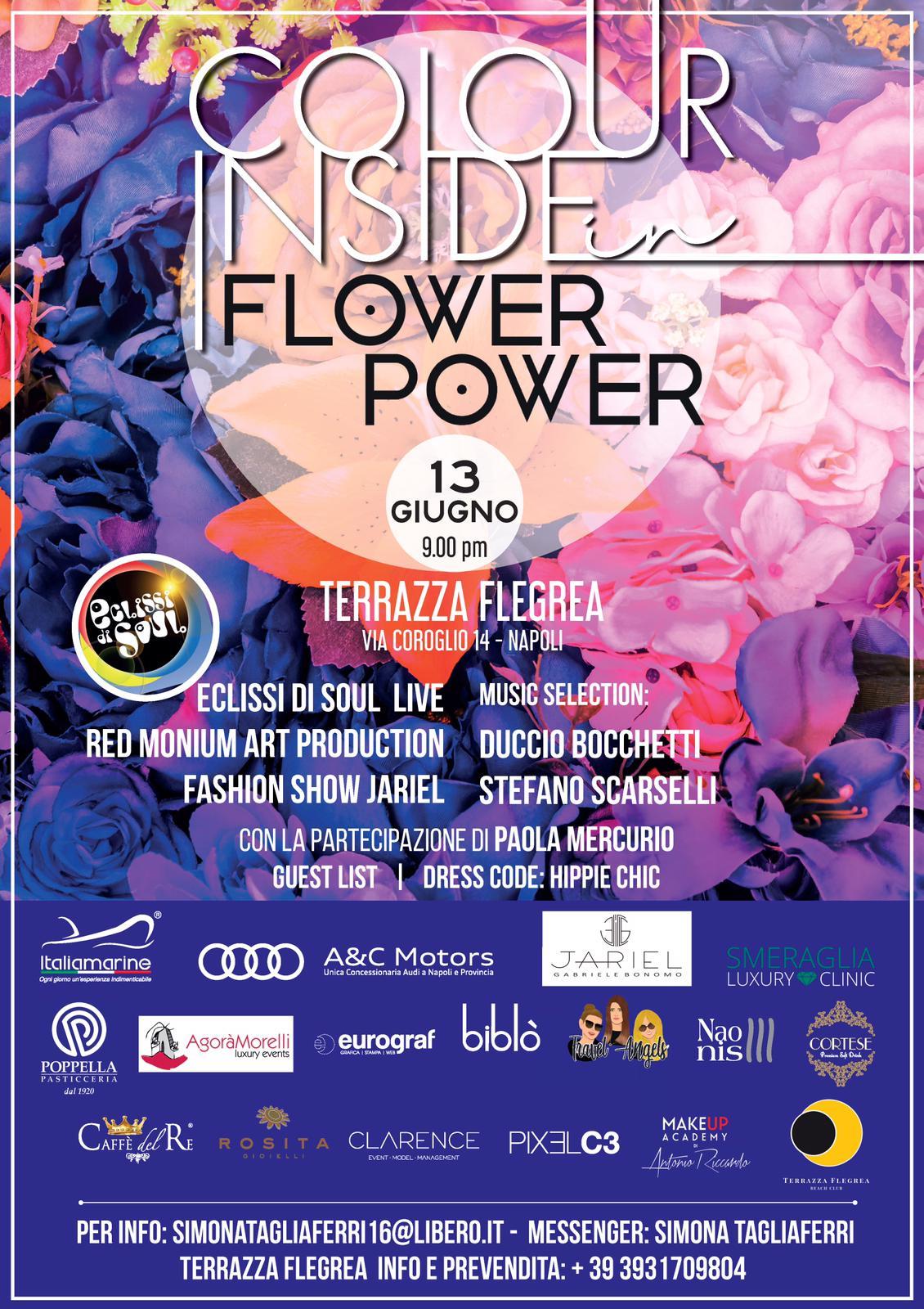Colour Inside In Flower Power Terrazza Flegrea Interno
