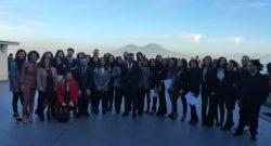 Il prof. Fabrizio Manuel Sirignano con la squadra degli allievi della quattordicesima edizione del Master in HR