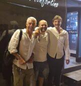 Francesco Di Cegie con Biagio Izzo e Stafano Di Martino